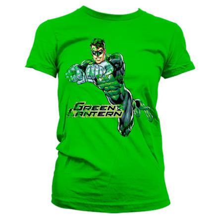 Green Lantern Distressed Girly Tee, Girly T-Shirt