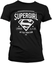 Supergirl - Strong & Faster Girly T-Shirt, Girly T-Shirt