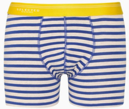 Selected Homme Slhclassic Stripe Trunk B Boxershorts Mörk Gul