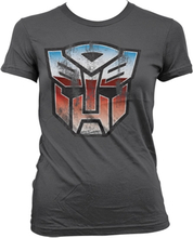 Distressed Autobot Shield Girly T-Shirt, Girly Tee