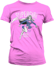 Supergirl Metropolis Distressed Girly T-Shirt, Girly T-Shirt