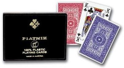 100% Plast spelkort, dubbel
