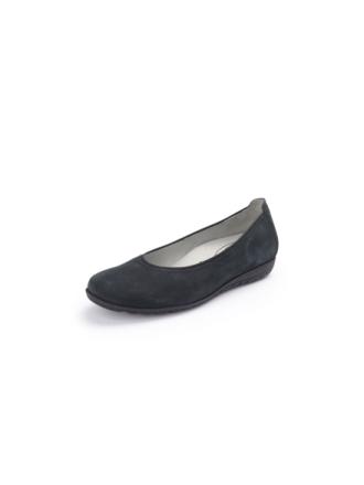 """Ballerinaskor """"Hesima"""" i äkta läder från Waldläufer blå"""