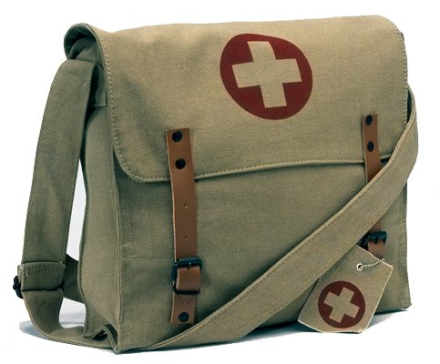 Khaki Vintage Medic Bag