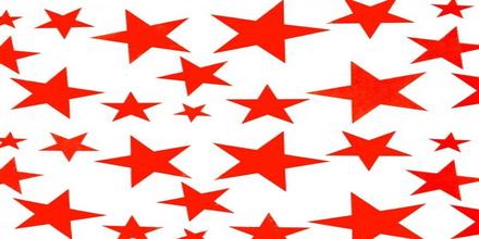 Wrappapper röda stjärnor 25 st