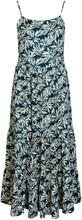 Y.A.S Blommig Midiklänning Kvinna Blå
