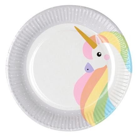 "Tallrik, papper 23cm ""Unicorn"