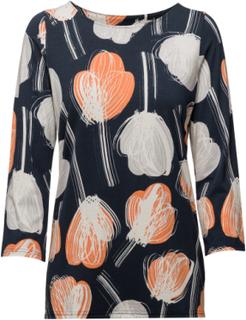 Ladies Shirt, Nuppu T-shirts & Tops Long-sleeved Multi/mønstret Nanso