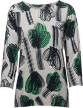 Ladies Shirt, Nuppu T-shirts & Tops Long-sleeved Multi/mönstrad Nanso