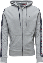 Hoody Ls Hwk Night & Loungewear Hoodies Grå Tommy Hilfiger