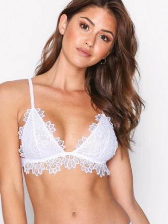 NLY Lingerie Lovely Lace Soft Bra Hvit