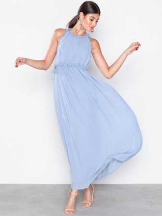 Only onlCEREMONY Halterneck Long Dress W Vaaleansininen