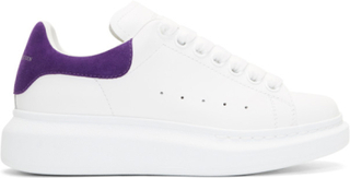 Alexander McQueen White and Purple Oversized Sneakers