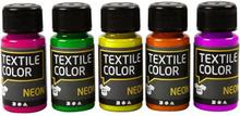 Textile Color textilfärg, 5x50 ml, mixade färger