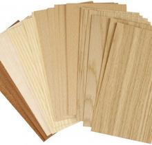 Bambufaner, 12x22 cm, tjocklek 0,75 mm, 30 mix. ark, bok, ek , mahogny