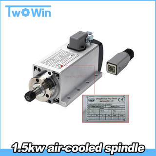 1.5kw Spindle Motor Air Cooled Motor cnc Spindle Motor Spindle 220V CNC Square Milling Machine Tools For Engraving