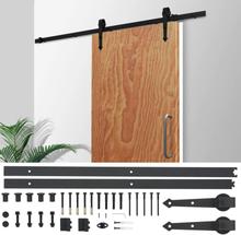 vidaXL Skjutdörrsbeslag 183 cm stål svart
