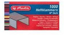 Herlitz - Zszywki 24/6 pakowanie po 1000 szt. w kartoniku