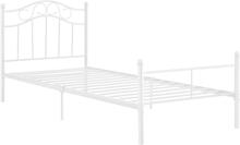 [en.casa]® Metalli sänkyrunko - 120 x 200 cm, valkoinen