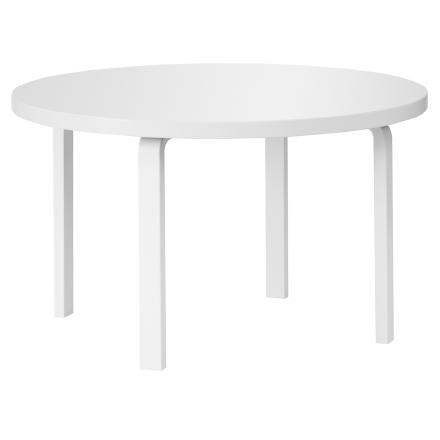 Artek Aalto pöytä 91, kokovalkoinen