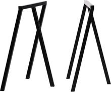 Hay Loop Stand pukkijalat, 2 kpl, musta