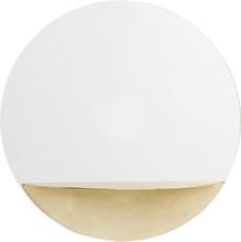 Nordal - Circle spejl med guld hylde - Ø40 cm