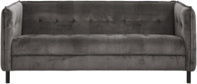 Nordal - Sofa i grå velour