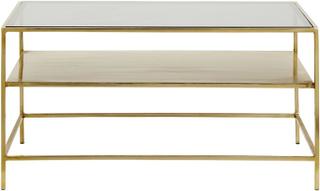 Nordal - Decadent sofabord - Guld og sort glas
