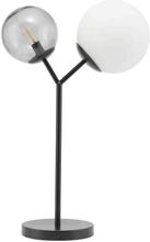 House Doctor - Twice bordlampe i sort metal og glas