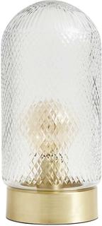 Nordal - Dome bordlampe i guld og glas