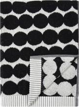 Marimekko Räsymatto käsipyyhe, musta-valkoinen