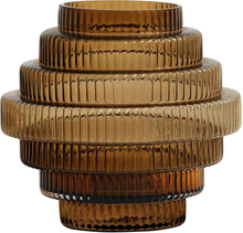 Nordal Rill vase i glas 24 cm - Amber