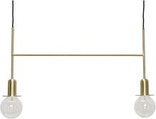 Hübsch loftlampe med pærer - messing