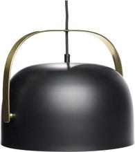 Hübsch pendel i sort og messing - Ø30 cm