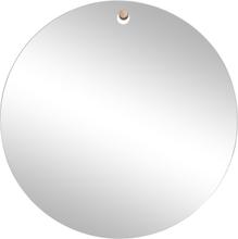 Hübsch rundt spejl med trækrog - Ø50 cm