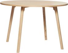 Hübsch rundt spisebord i egetræ - Ø115 cm