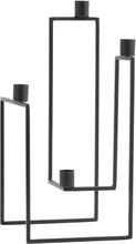 Nordal Ora 4-armet lysestage - sort jern