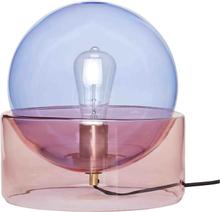 Hübsch bordlampe i glas - blå og rosa
