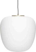 Hübsch pendel opal hvid og messing - Ø40 cm