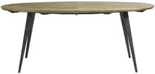 Nordal Ovalt spisebord i lyst træ - 200x100 cm