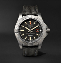 Breitling - Avenger Blackbird Automatic 44mm Titanium And Canvas Watch, Ref. No. V1731110/bd74 - Black