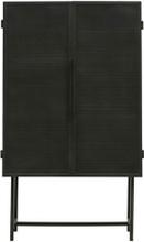 House Doctor Kabinet Collect Desk Jern vitrineskab i sort/135 cm