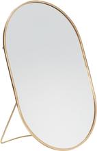 Hübsch bordspejl med fod oval messing - 25x16 cm