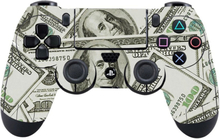 Sony PlayStation 4 - PS4 controller durable adhesive sticker - Dollar Bills