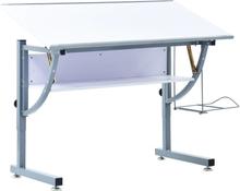 vidaXL Tegnebord for tenåringer hvit 110x60x87 cm MDF