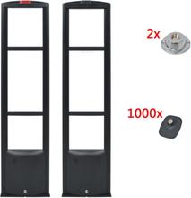 vidaXL RF Larmbågar med larmbrickor och brickavtagare 8,2 MHz svart