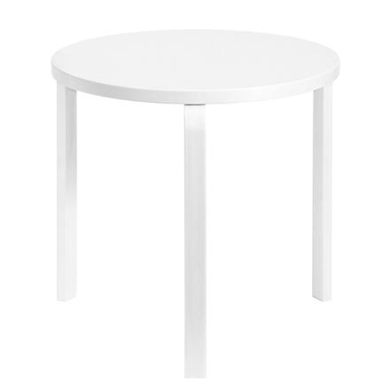 Artek Aalto pöytä 90B, kokovalkoinen