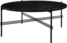 Gubi TS sohvapöytä, 80 cm, musta - musta marmori