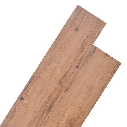 vidaXL PVC-gulvplanker 5,26 m² valnød brun