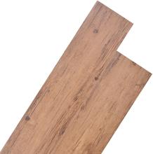 vidaXL Golvbrädor i PVC 5,26 m² 2 mm valnötsbrun